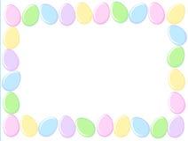 Frontera de los huevos de Pascua stock de ilustración