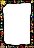 Frontera de los juguetes Imagen de archivo libre de regalías