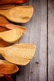 Frontera de los utensilios de la cocina Imagen de archivo libre de regalías