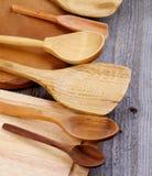Frontera de los utensilios de la cocina Fotografía de archivo