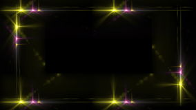 Frontera de luces de una etapa almacen de metraje de vídeo
