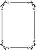 Frontera de lujo de la paginación Imágenes de archivo libres de regalías