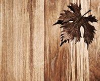 Frontera de madera de la hoja del otoño Imagen de archivo libre de regalías