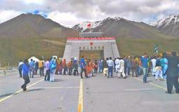 Frontera de Paquistán China fotos de archivo libres de regalías
