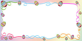 Frontera de Pascua stock de ilustración