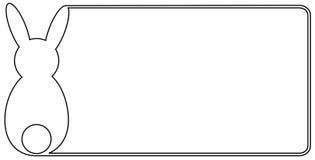 Frontera de Pascua ilustración del vector
