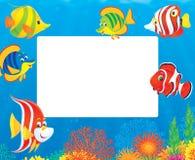 Frontera de pescados tropicales ilustración del vector