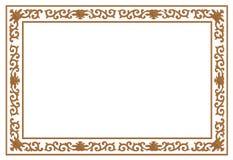 Frontera de talla de madera floral Fotos de archivo libres de regalías