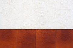 Frontera de tejas marrones. Imagen de archivo libre de regalías