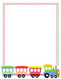 Frontera de Toytrain stock de ilustración