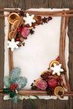 Frontera decorativa abstracta de la Navidad Imagen de archivo libre de regalías