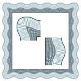 Frontera decorativa clásica del certificado inconsútil Fotografía de archivo libre de regalías