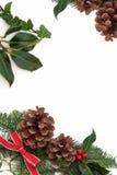 Frontera decorativa de la Navidad Fotos de archivo libres de regalías