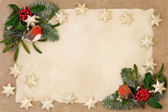 Frontera decorativa de la Navidad Fotografía de archivo libre de regalías