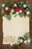 Frontera decorativa de la Navidad Fotos de archivo