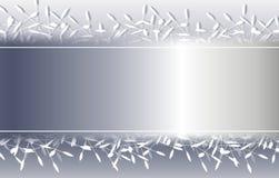 Frontera decorativa de plata del fondo de la Navidad stock de ilustración