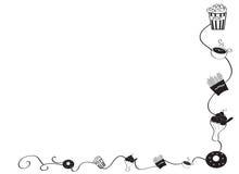 Frontera decorativa del marco con la comida Imagen de archivo libre de regalías