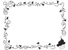 Frontera decorativa del marco con las magdalenas Imagen de archivo libre de regalías
