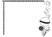 Frontera decorativa del marco con las piruletas Foto de archivo libre de regalías