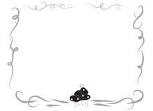 Frontera decorativa del marco con una magdalena Foto de archivo