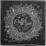Frontera decorativa del tiempo del café Fondo libre illustration