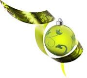 Frontera decorativa hecha de remolinos verdes de la cinta fotografía de archivo libre de regalías