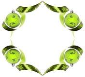Frontera decorativa hecha de remolinos verdes de la cinta fotografía de archivo