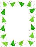 Frontera del árbol de navidad Imagenes de archivo