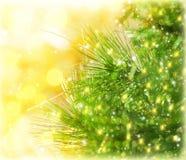 Frontera del árbol de navidad Fotos de archivo