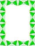 Frontera del árbol de navidad ilustración del vector