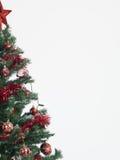 Frontera del árbol de navidad aislada en blanco Imagen de archivo libre de regalías
