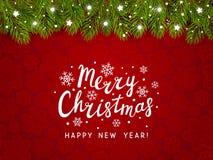 Frontera del árbol de navidad con la decoración del día de fiesta
