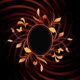 Frontera del óvalo del diseño floral Fotos de archivo libres de regalías