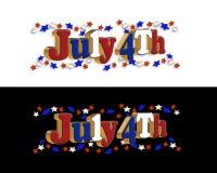 Frontera del 4 de julio Imágenes de archivo libres de regalías
