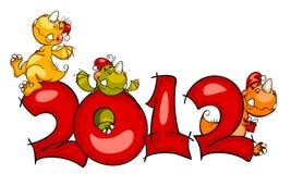 Frontera del Año Nuevo. dragón 2012 Fotos de archivo libres de regalías