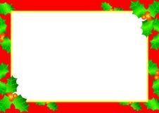 Frontera del acebo de la Navidad Imagen de archivo libre de regalías