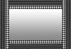 Frontera del acoplamiento del gris de plata Imagen de archivo libre de regalías