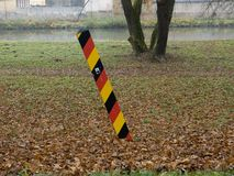 Frontera del Alemán-pulimento Imagen de archivo