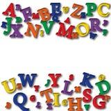 Frontera del alfabeto Foto de archivo libre de regalías