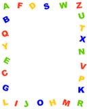 Frontera del alfabeto Imagen de archivo