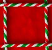 Frontera del bastón de caramelo Imagen de archivo libre de regalías