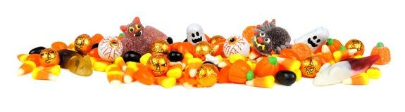 Frontera del caramelo de Halloween Fotos de archivo libres de regalías