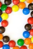 Frontera del caramelo - vertical Fotografía de archivo libre de regalías