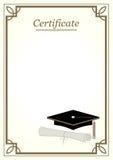 Frontera del certificado Fotografía de archivo libre de regalías