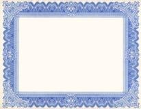 Frontera del certificado imagen de archivo libre de regalías
