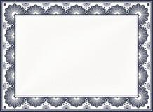 Frontera del certificado Imágenes de archivo libres de regalías