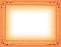 Frontera del certificado Imagen de archivo