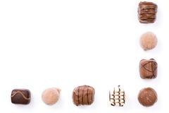 Frontera del chocolate imagenes de archivo