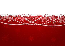 Frontera del copo de nieve de la Navidad Imagen de archivo libre de regalías