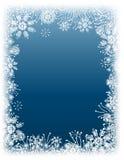 Frontera del copo de nieve del invierno Imagen de archivo libre de regalías